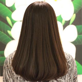 縮毛矯正 艶髪 ワンカール セミロング ヘアスタイルや髪型の写真・画像