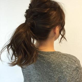 夏 簡単ヘアアレンジ ゆるふわ 大人かわいい ヘアスタイルや髪型の写真・画像