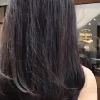 大人かわいい ハイライト デート セミロング ヘアスタイルや髪型の写真・画像