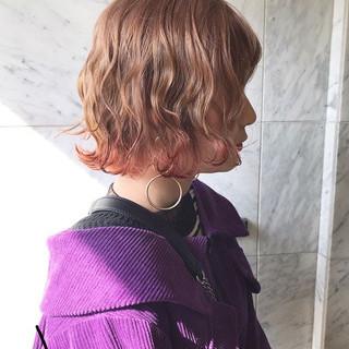 外国人風カラー ボブ イルミナカラー ヘアカラー ヘアスタイルや髪型の写真・画像