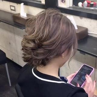 結婚式 ヘアセット ヘアアレンジ ロング ヘアスタイルや髪型の写真・画像