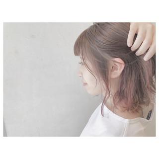 ウェーブ ストリート グラデーションカラー ボブ ヘアスタイルや髪型の写真・画像