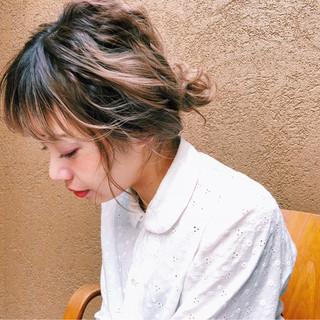 簡単ヘアアレンジ ゆるふわ アンニュイ ヘアアレンジ ヘアスタイルや髪型の写真・画像