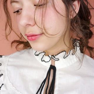 外国人風 ゆるふわ ミディアム ウェーブ ヘアスタイルや髪型の写真・画像