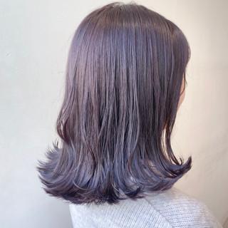 透明感カラー ミディアム ナチュラル ラベージュ ヘアスタイルや髪型の写真・画像
