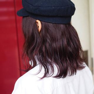 アンニュイ ナチュラル ウェーブ ボブ ヘアスタイルや髪型の写真・画像