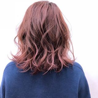 スポーツ ピンク ロブ ボブ ヘアスタイルや髪型の写真・画像