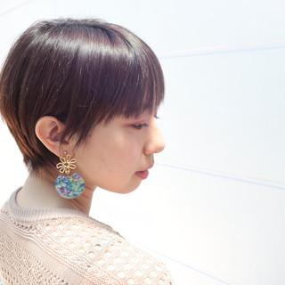 ショートヘア マッシュショート フェミニン ベリーショート ヘアスタイルや髪型の写真・画像