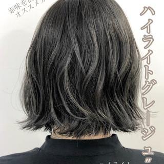 エレガント ネイビージュ ネイビーブルー ブルージュ ヘアスタイルや髪型の写真・画像