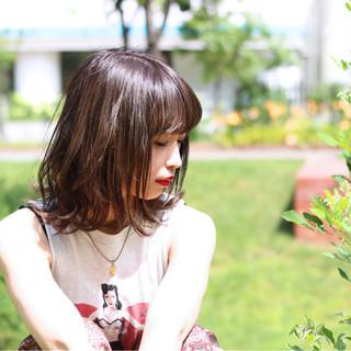 外国人風 ミディアム ナチュラル 外国人風カラー ヘアスタイルや髪型の写真・画像