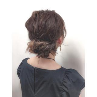 ハイライト ショート ハーフアップ 簡単ヘアアレンジ ヘアスタイルや髪型の写真・画像