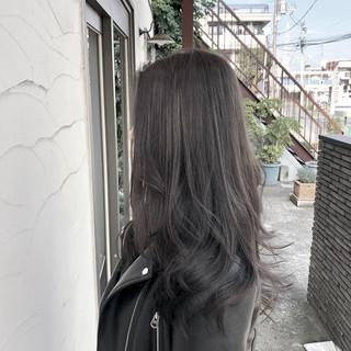 エレガント ロング パーマ 黒髪 ヘアスタイルや髪型の写真・画像