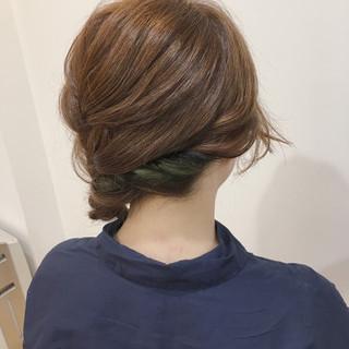 簡単ヘアアレンジ ショート 三つ編み ヘアアレンジ ヘアスタイルや髪型の写真・画像