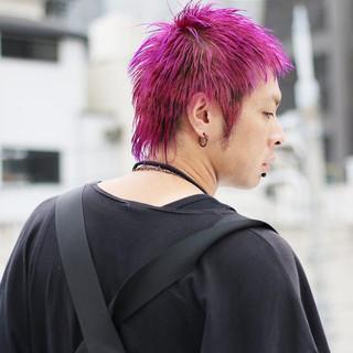 ショート ラベンダーアッシュ メンズヘア ストリート ヘアスタイルや髪型の写真・画像