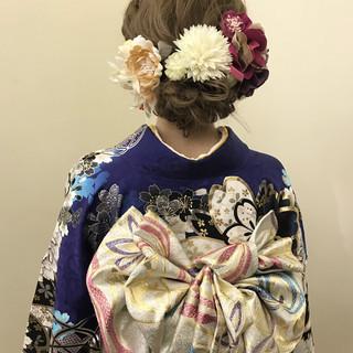 成人式 アップスタイル ロング 振袖 ヘアスタイルや髪型の写真・画像
