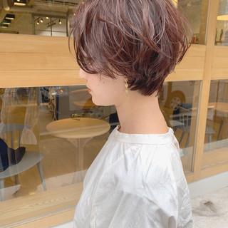 パーマ ショート マッシュ 外国人風 ヘアスタイルや髪型の写真・画像