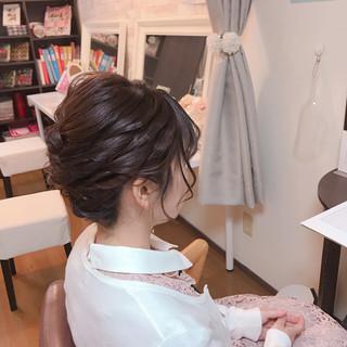 アンニュイほつれヘア ヘアアレンジ 結婚式 卒業式 ヘアスタイルや髪型の写真・画像