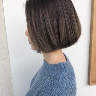 ボブ 外国人風 デート ナチュラル ヘアスタイルや髪型の写真・画像