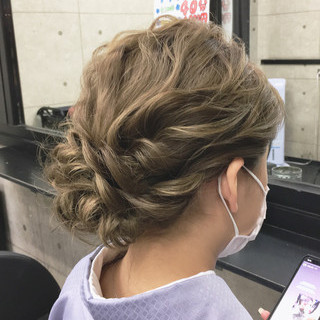 結婚式 着物 成人式 エレガント ヘアスタイルや髪型の写真・画像