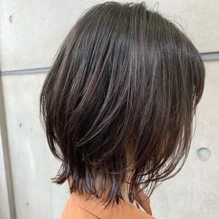 ウルフパーマ ボブ ボブウルフ 毛先パーマ ヘアスタイルや髪型の写真・画像
