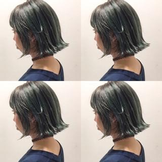 ボブ 色気 ガーリー グラデーションカラー ヘアスタイルや髪型の写真・画像
