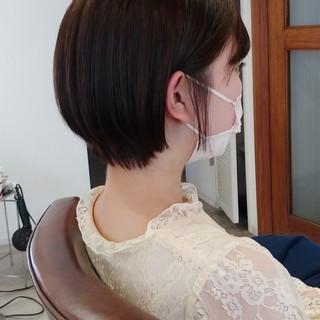 ショートボブ 大人ショート ナチュラル可愛い ショート ヘアスタイルや髪型の写真・画像