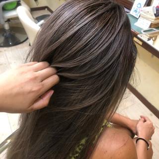 ロング 女子力 外国人風カラー アッシュ ヘアスタイルや髪型の写真・画像