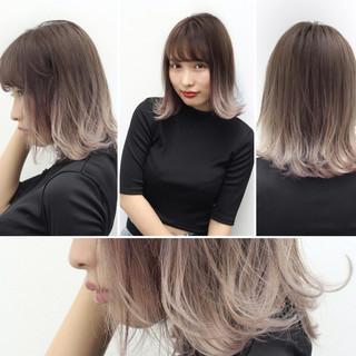 ストリート ブリーチ 切りっぱなし ホワイト ヘアスタイルや髪型の写真・画像