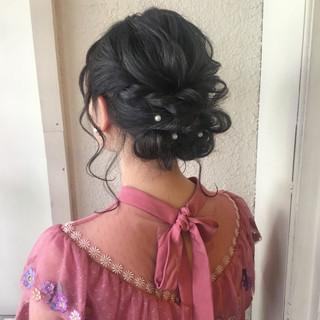 ヘアアレンジ ボブ ショート 結婚式 ヘアスタイルや髪型の写真・画像