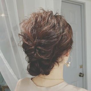 大人かわいい ミディアム パーティ ゆるふわ ヘアスタイルや髪型の写真・画像