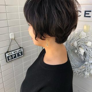 上品 ショートボブ エレガント 女子力 ヘアスタイルや髪型の写真・画像