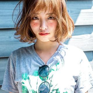 大人女子 ショートボブ ナチュラル 外ハネ ヘアスタイルや髪型の写真・画像