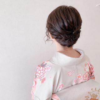 結婚式ヘアアレンジ 訪問着 和装ヘア ボブ ヘアスタイルや髪型の写真・画像