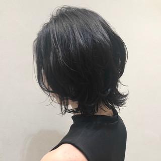 外ハネ パーマ モード くびれカール ヘアスタイルや髪型の写真・画像