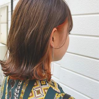 ロブ ウェットヘア ストリート ボブ ヘアスタイルや髪型の写真・画像