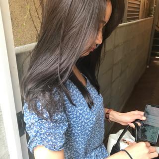 ロング デート パーマ ナチュラル ヘアスタイルや髪型の写真・画像