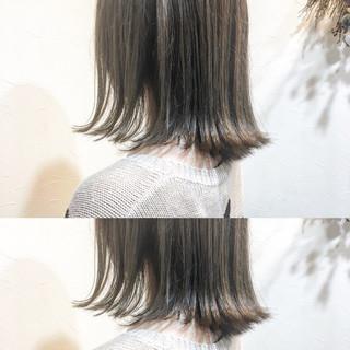 こなれ感 ボブ ミディアム アッシュベージュ ヘアスタイルや髪型の写真・画像