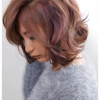 グラデーションカラー ストリート ボブ ヘアスタイルや髪型の写真・画像