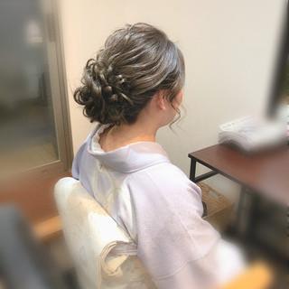 ヘアセット アップスタイル 和装 フェミニン ヘアスタイルや髪型の写真・画像