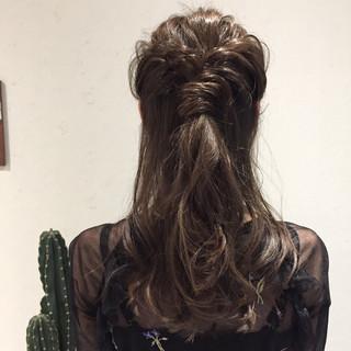 ロング 結婚式 簡単ヘアアレンジ ヘアアレンジ ヘアスタイルや髪型の写真・画像