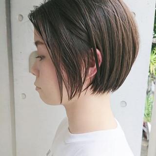 デート ナチュラル オフィス ショートボブ ヘアスタイルや髪型の写真・画像