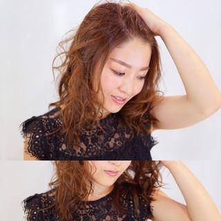 大人かわいい グラデーションカラー 外国人風 セミロング ヘアスタイルや髪型の写真・画像