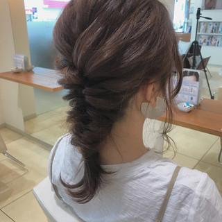 アンニュイ セミロング 簡単ヘアアレンジ 結婚式 ヘアスタイルや髪型の写真・画像