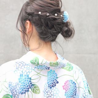 涼しげ アウトドア ヘアアレンジ 簡単ヘアアレンジ ヘアスタイルや髪型の写真・画像