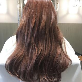 外国人風カラー 簡単ヘアアレンジ カール ピンク ヘアスタイルや髪型の写真・画像