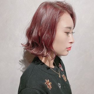 韓国 ナチュラル 外国人風カラー 切りっぱなしボブ ヘアスタイルや髪型の写真・画像