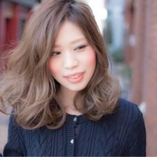 秋 モード 愛され ミディアム ヘアスタイルや髪型の写真・画像