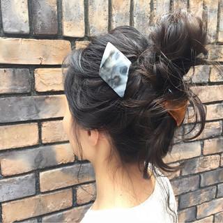 ヘアアレンジ 外国人風 簡単ヘアアレンジ ミディアム ヘアスタイルや髪型の写真・画像