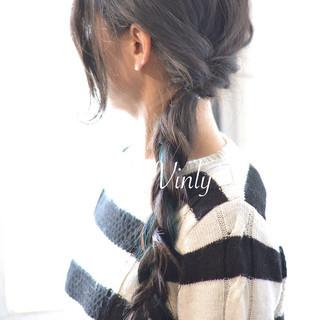 デート ロング ヘアアレンジ ナチュラル ヘアスタイルや髪型の写真・画像