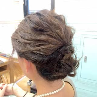 結婚式 ショート 波ウェーブ ボブ ヘアスタイルや髪型の写真・画像